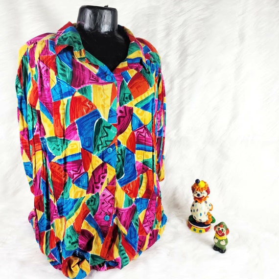 Vintage Tacky Shirt, Super Loud Shirt, Size XL Shi