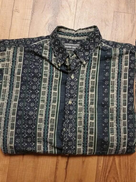 Classy Pattern Print Dress Shirt, Mens Golf Shirt… - image 3