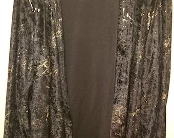 Vintage/Retro Women's Cardigan   One Size Reflective Gold Splatter