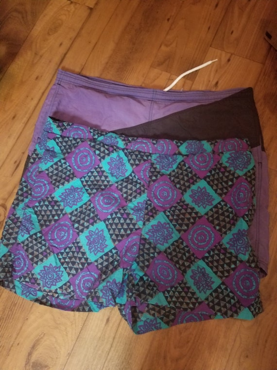 2 Retro Funky Style Swimwear Trunks Size XL