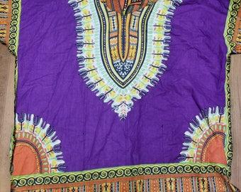 Bohemain Kaftan Dashiki Tribe African Jungle Festival Fun Shirt Free Size
