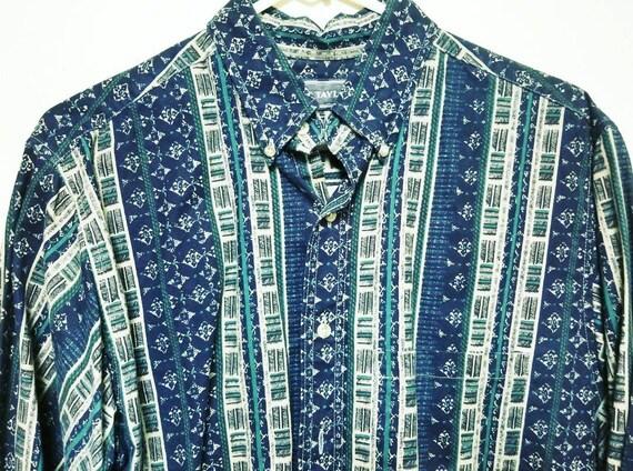 Classy Pattern Print Dress Shirt, Mens Golf Shirt,
