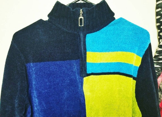 Vintage Colorful Sweater, Vintage  Pullover Sweate
