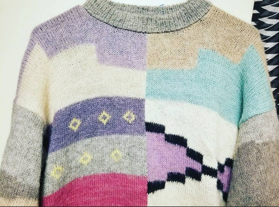 Vintage Abstract Sweater, Super Unique Sweater, Ug