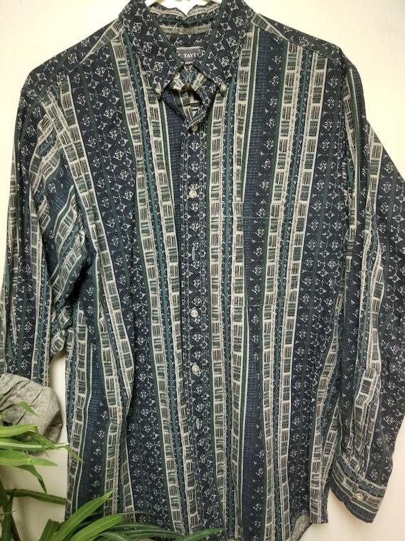 Classy Pattern Print Dress Shirt, Mens Golf Shirt… - image 7