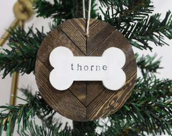 Personalized Dog Ornament, Custom Christmas Pet Ornament, Holiday Pet Gift for Dog Lover, Dog Gift, Personalized Pet Gift