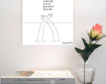 "Sketch print on rigid support-""Max Gazzè/summerbreeze"""