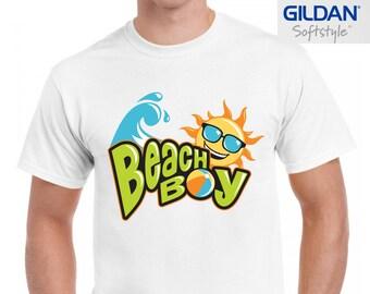 3a35f87b66e9 Beach boy sun sea and sand summer fashion trendy hype hipster tumblr men s  100% cotton printed t-shirt