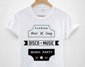 0573ac0308d Florida best song disco music party hype dope swag Tumblr funny hipster  Retro cotton Men s Unisex tee T-shirt tops