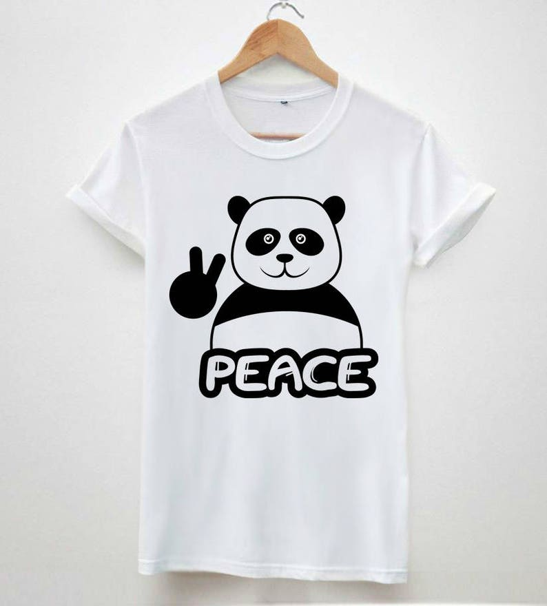 235b42ca Peace white panda symbol hype dope swag Tumblr funny hipster | Etsy