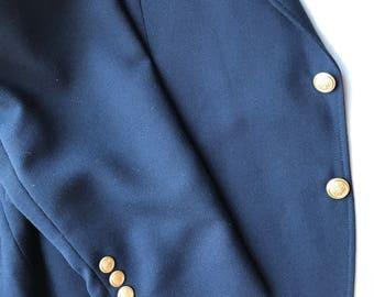 John Peel LTD. Navy Blue Sport Coat - 44S Men's Blazer