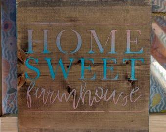Home Sweet Farmhouse, Rustic Decor, Farmhouse Decor, Rustic Farmhouse, Turquoise Decor, Farmhouse Style