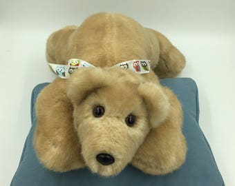 Teddy Bear, Incredibly Soft, Huggable, Plush, Handmade, OOAK, Children & Adults, Irresistible, Comforting to hold, Cuddly, Tan/short hair