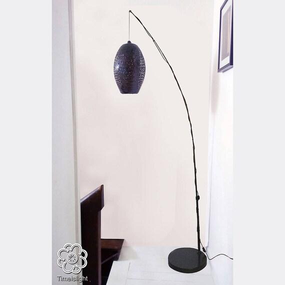 Lampe Bambus Cocoon Verstellbar 200 Cm Bis 230 Cm Gewebt Etsy