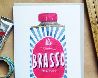 Brasso card iconic vintage packaging  (code SM017)