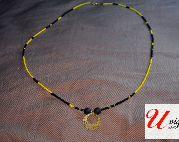Black & Yellow Necklace