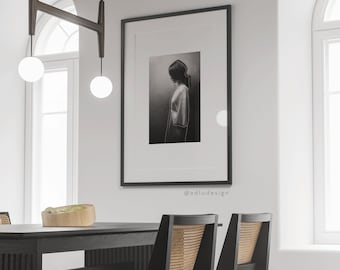 Woman Photography Wall Art Printable, Woman's Profile Line-art, Minimal & Modern Home Decor, Downloadable Print