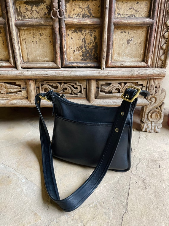 Black Vintage Coach Crossbody Bag