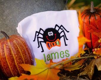 Halloween Spider Shirt, Boys Halloween Shirt, Halloween Outifit, Spider Shirt