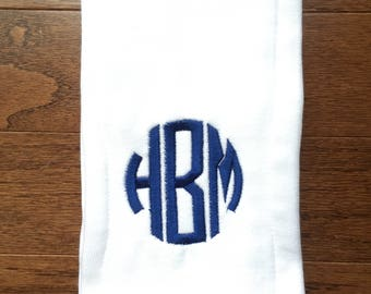 Burp Cloth, Monogrammed Burp Cloth, Personalized Burp Cloth, Baby Shower Gift, Custom Burp Cloth