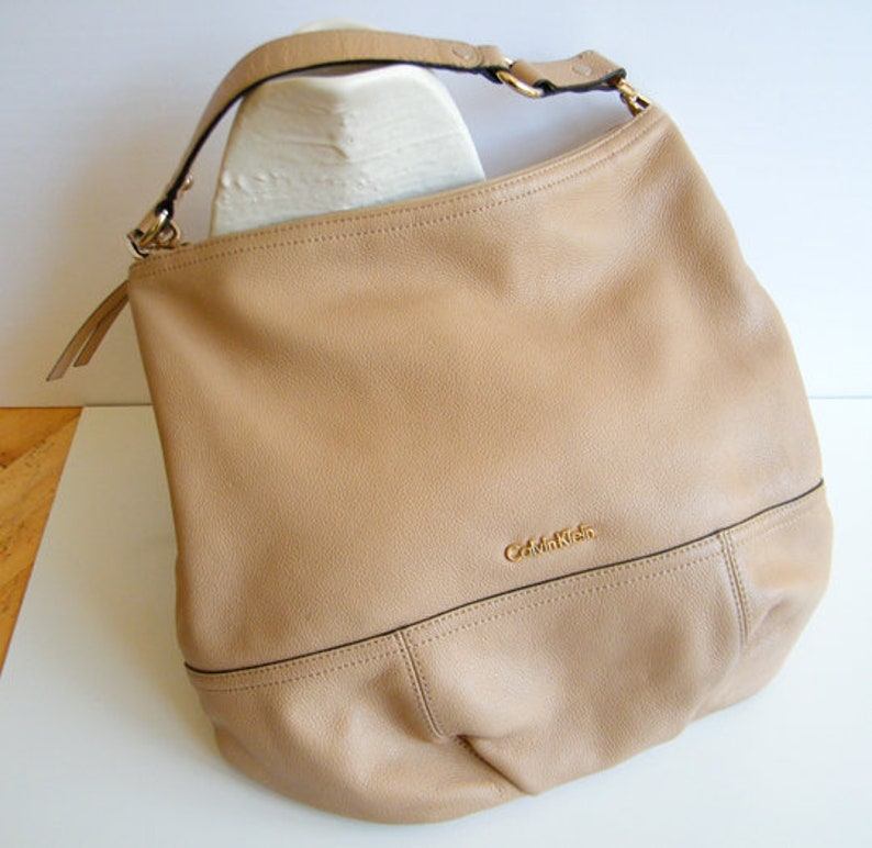 81d66d37252c6 Calvin Klein Leather Purse XL Size Bag Vintage Top Grain