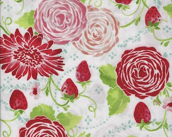 Sugar Berry Picnic In The Park Metallic Radiant Berry Fabric By Fat Quarter