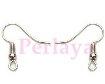 200 REF418X1 Silver Earring hooks