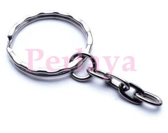 Silver Keychain REF116 5 rings