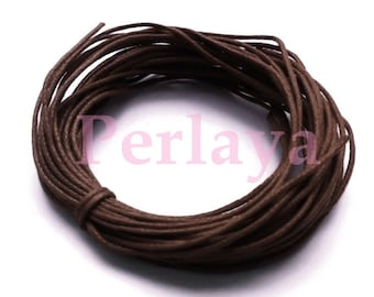 25 metres of REF586X5 brown waxed cotton yarn