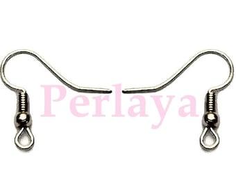 400 REF696X2 dark Silver Earring hooks