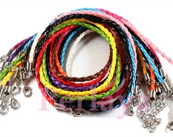 Mixed 12 REF100 braided leather neck sizes
