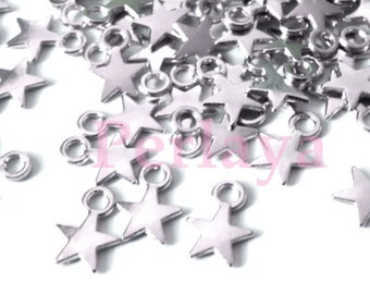 Set of 170 stars REF2819 charms