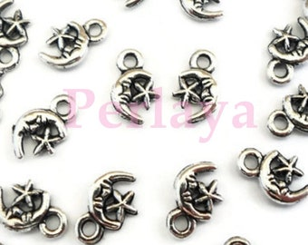 Set of 50 charms moons stars REF2338