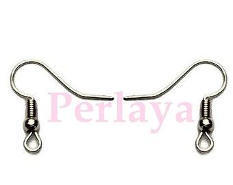 50 REF1186 dark Silver Earring hooks