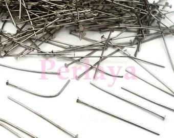 REF2635 - Lot of 400 silver wire dark head flat 3.5 cm