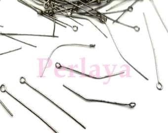 REF2679 - Set of 350 silver wire dark eye 4cm