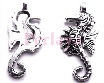 Set of 15 REF139X3 seahorse charms