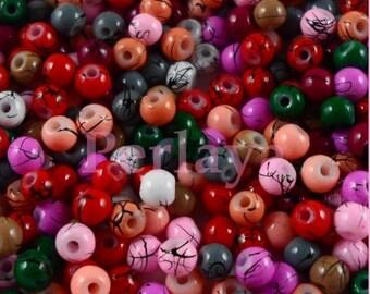Mix of 300 glass beads 4mm filament REF2308 effect