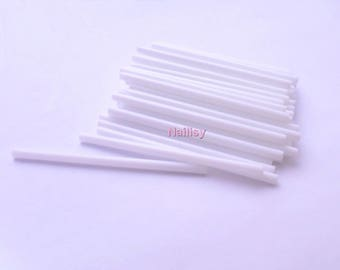 50 white lollipop sticks 7cm REF1798
