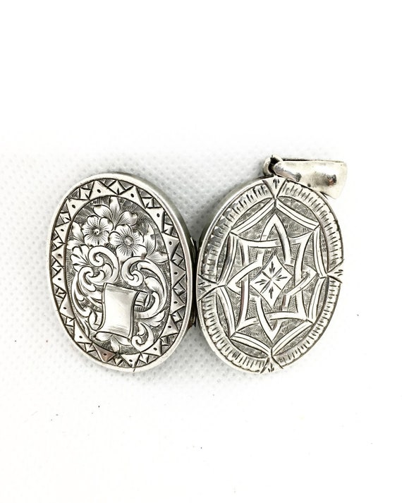 Antique Victorian Silver Aesthetic Locket