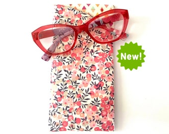 Liberty Print Personalised Glasses Case in five Liberty Tana Lawn Classic Prints