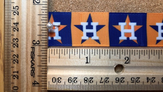 "Houston Astros 7//8/"" grosgrain ribbon the listing is for 10 yards"