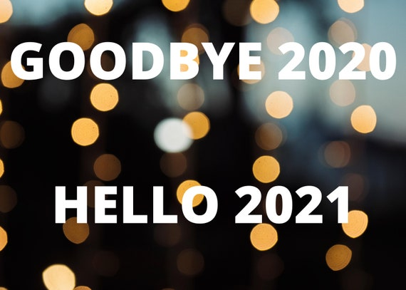 New Years card Goodbye 2020 Hello 2021 | Etsy