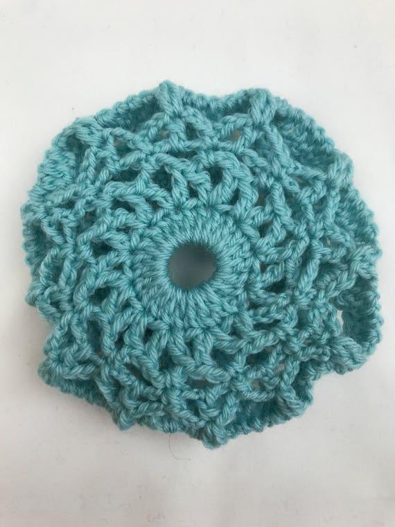 Hand crochet hair net bun net bun cover merino wool | Etsy