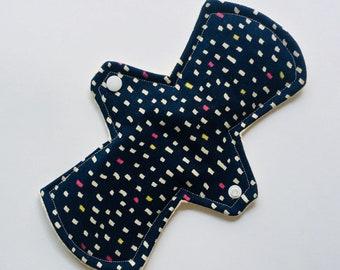 "9"" Organic Cloth Menstrual Pads, Cloth Pads Moderate, Moon Pad, Mama Cloth, Cloth Sanitary Pads, Period Pads, reusable cloth pads, Navy Blue"