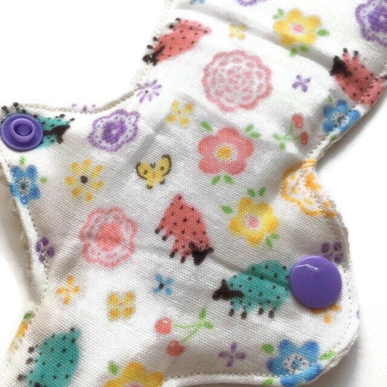 Organic 6.5 Thong pantyliner cloth pad liner pantyliner cloth pad thong liner Incontinence Liner G-string Liner  Zero Waste csp