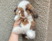 Crochet holland lop bunny Realistic stuffed rabbit Knitted holland lop bunny Realistic rabbit Realistic bunny toy Knitted rabbit Knit bunny