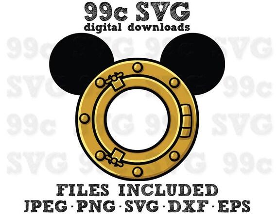 Disney Cruise Porthole Svg Dxf Png Vector Cut File Cricut Etsy