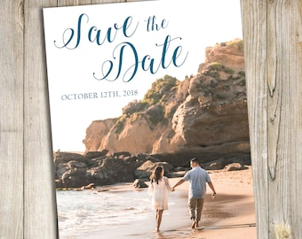Teal Save the Date Announcement