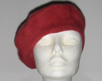 0534107e1d0 Kangol Design vintage beret  Angora and wool red beret  Made in United  Kingdom beret